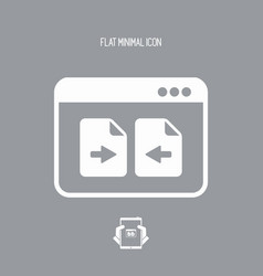 File transfer - flat minimal icon vector