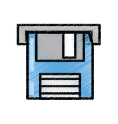 floppy disk storage information sketch vector image