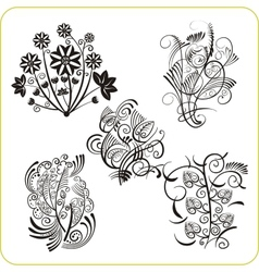 Floral Design - set easter symbols vector image