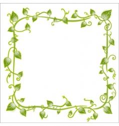floral leaf frame vector image