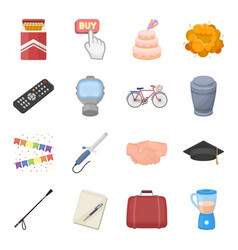 Food sport religion and other web icon in vector