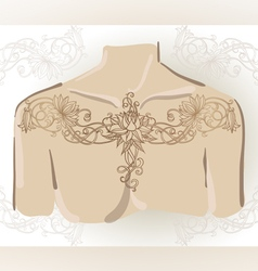 Freehand drawing of lily oncollarbones vector