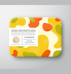 Fruits bath cosmetics box wrapped paper vector