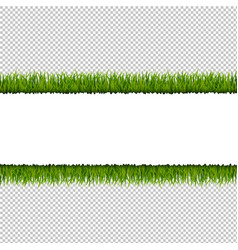 Green grass border transparent background vector
