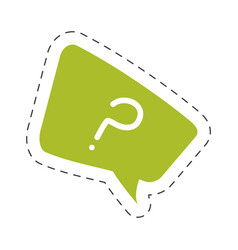 green question mark bubble speech image vector image