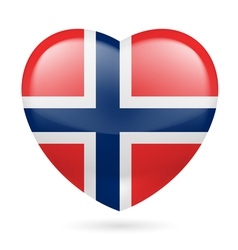 Heart icon of Norway vector image