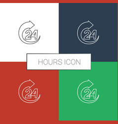 Hours icon white background vector