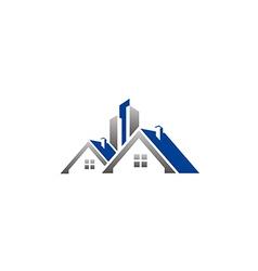 House realty building construction rologo vector