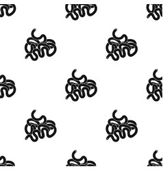 Human small intestine icon in black style isolated vector