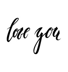 i love you hand drawn creative calligraphy vector image