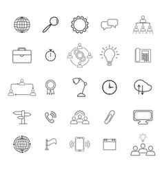 information technology icons vector image