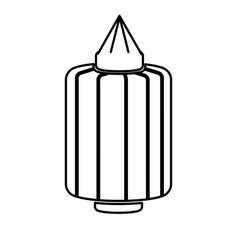 japanese lantern decoration festive culture line vector image