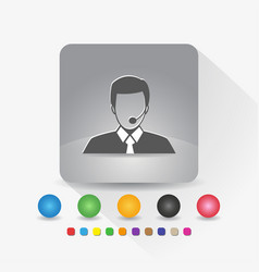 male customer service icon sign symbol app in vector image