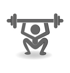 Man lifting weight logo icon vector