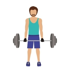 Man workout fitness lifestyle vector