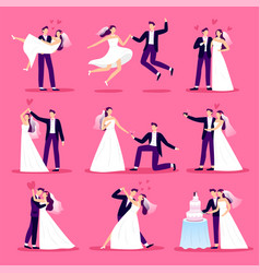 marriage couple just married couples wedding vector image