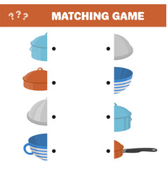 Matching game for kids find the right pair for vector
