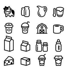 Milk icons vector