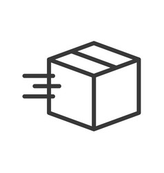 Moving box shipping and logistic icon outline vector