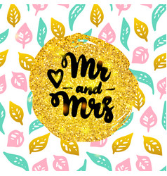 mr and mrs postcard vector image
