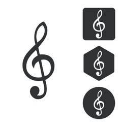 Music icon set monochrome vector