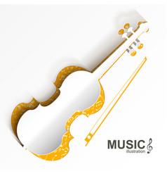musical instrument template vector image