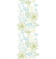 Mysterious green garden vertical seamless pattern vector