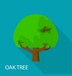 oak tree icon flat style vector image