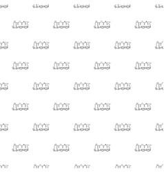 old steam locomotive pattern seamless vector image