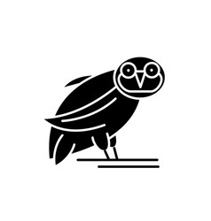 owl black icon sign on isolated background vector image