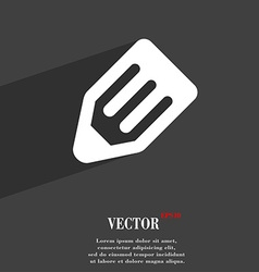pencil icon symbol Flat modern web design with vector image