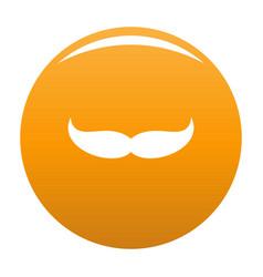 Pointing mustache icon orange vector