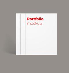 portfolio mockup vector image