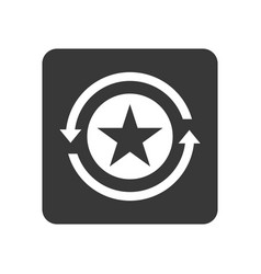 Quality control icon with reload symbol vector