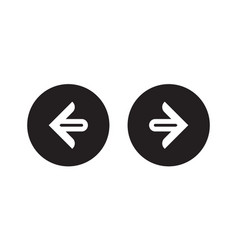 Right left or next and previous simple arrows vector