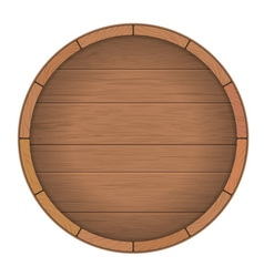 Round wooden barrel for wine vector