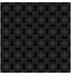 Seamless black and silver pattern vector