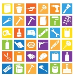 Set of Bright Colorful Icons in Flat Style vector