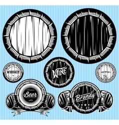 set of patterns for monochromatic emblems with vector image