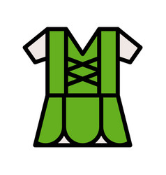Shirt feast of saint patrick filled icon vector