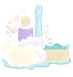 Shower gel set vector image