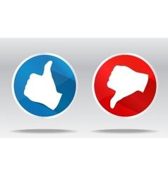 sign like and dislike vector image
