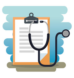 stethoscope and order medical icon vector image