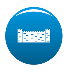 stone fence icon blue vector image