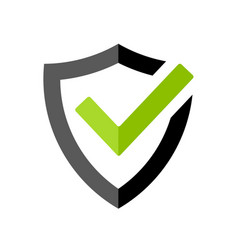 Strong protection tick shield icon vector