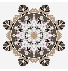 Stylized mandala temlate handmade vintage element vector image