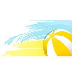 Summer beach ball vector