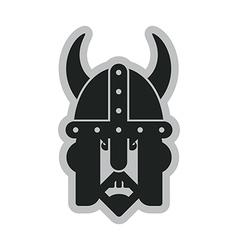 Viking head symbol vector