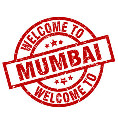 Welcome to mumbai red stamp vector