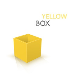 Yellow Box isolated on white background vector image